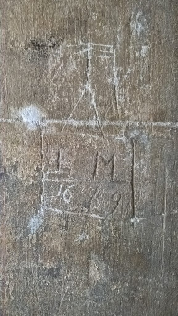 IM 1669, church graffito, North Porch