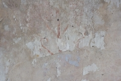 26) North wall, a fragment of wall medieaval painting.
