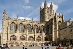 Bath Abbey, view of south side