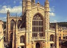 View of west front, Bath Abbey