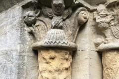 West door pillars, N. side