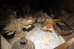 Broken sculpture in store