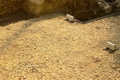 Pisé floor, chapel
