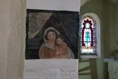 Wall mural, Condat church