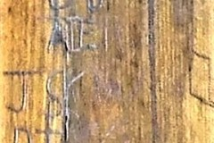 More initials on panelling.