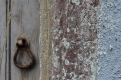 Priest's door, Marian and initials M, D,C.