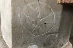 Daisy wheel (compass drawn), quatrefoil