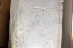 Daisy wheel (compass drawn) partially erased
