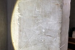 Butterfly cross, IH monogram