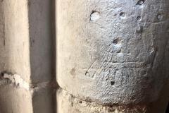 Dot pattern, cross, other marks