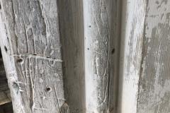 Holes, scored lines, horizontal line