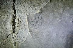 Eight petalled rosette, hand drawn