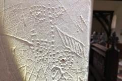 Dot pattern, grid mark, crossbow