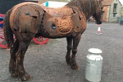 Punch, the scrap metal horse