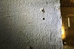 Criss-cross (modern drill holes)