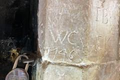 WC, 1746, IB, EK, 1691, W