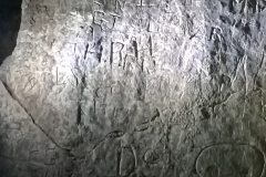 Inscribed block with initials