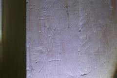 Helmet horse device, shield, Marian mark, M