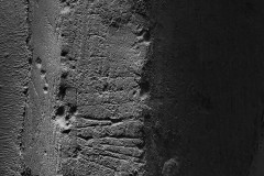 7. St Giles. Southwest face of east pillar. A possible tally or ladder mark.