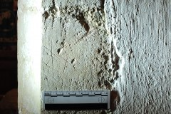 19. St Giles. Southeast face of the 3rd pillar from- he east. Four small rough St Andrews Crosses.
