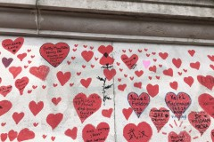 Hearts with text