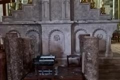 Back of altar