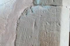 Probable mason's mark, south aisle, centre pillar. south face, east corner