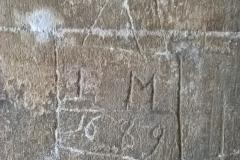 IM 1669, church graffito, memorial, North Porch