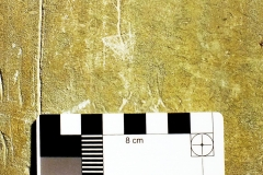 O03) South rectangular pillar, south west face.  A possible merchant mark.