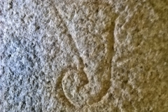 Masons mark, horn-shaped