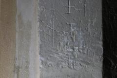 Ship, S. doorway, initials IC