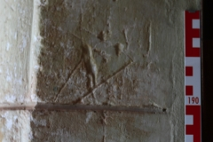 E side, cross and partial Marian