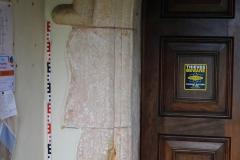 Interior north doorway