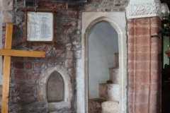 Rood stair and piscina