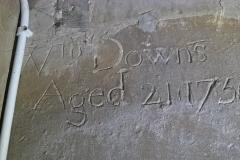 Wm Downs, Aged 21, 1756