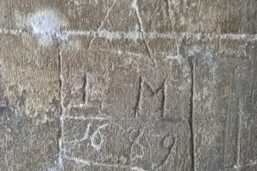 IM 1669, church graffito, North Porch