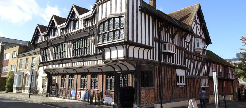 The Tudor House Museum and the D-Day Wall, Southampton, Hampshire