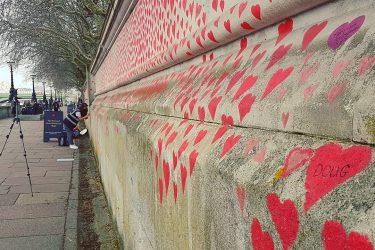 Covid Memorial Wall, Southbank, London (credit: Jasmina Lijesevic)